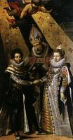 Louis XIII with his wife Anne of Austria (wedding)