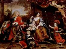 Louis (Dauphin) and his family (1687)